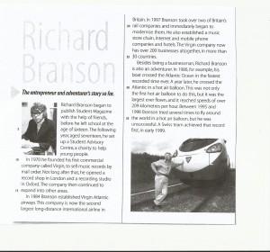 Richard Branson Reading